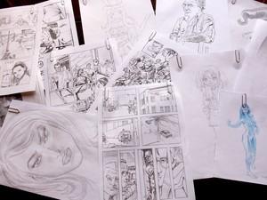 Interesse por desenhos e produção literária cresceu na Casa da Cultura (Foto: Paulo Mantoanelli)