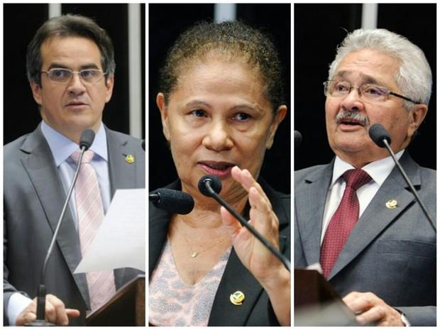 Os três senadores do Piauí participaram da sessão (Foto: G1)