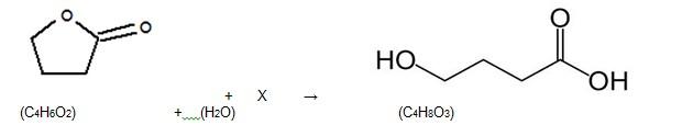 Reação de hidrólise (Foto: Reprodução/Fuvest)