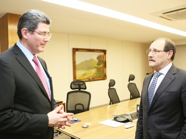 Sartori e Levy se reúnem em Brasília para tratar de finanças do RS (Foto: Luiz Chaves/Piratini)