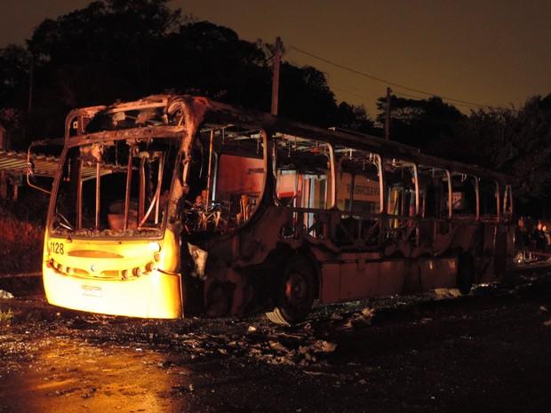 Blumenau registrou primeira ocorrência, com coletivo incendiado (Foto: Jaime Batista da Silva/Divulgação)