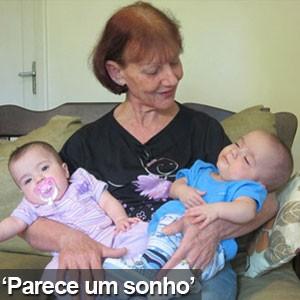 Mulher que deu à luz aos 61 anos comemora primeiro Dia das Mães (Anna Gabriela Ribeiro/G1)