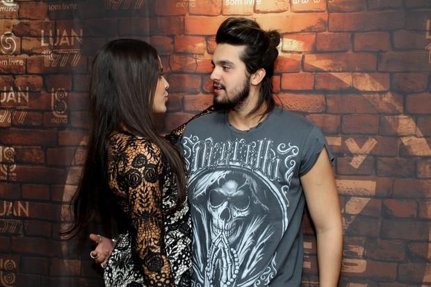Emilly e Luan Santana (Foto: Marcello Sá Barreto)