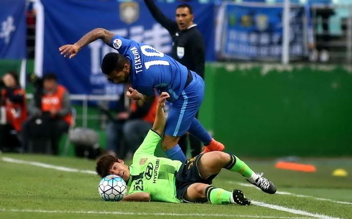 Jeonbuk FC x Jiangsu Suning  (Foto: Reprodução/Sina.com)