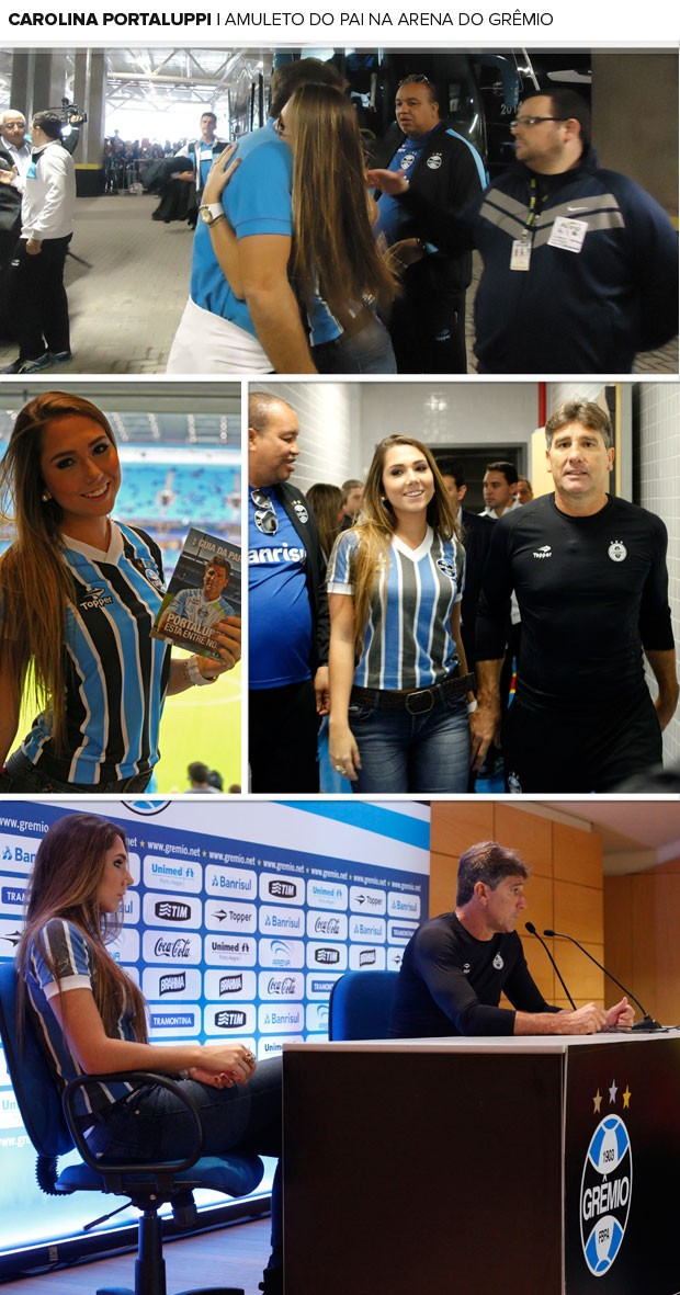 MOSAICO - Carol portaluppi na arena do grêmio (Foto: Wesley Santos / Press Digital)
