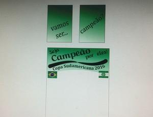 Material gráfico feito pelo ropeiro Cocada, Chapecoense (Foto: Arquivo pessoal)
