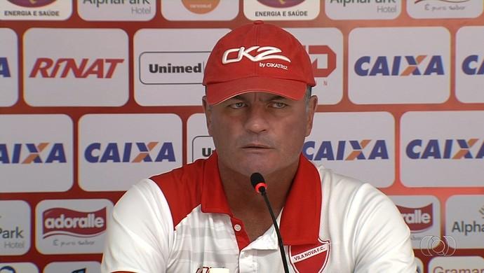 Mazola Júnior - técnico do Vila Nova (Foto: Reprodução / TV Anhanguera)