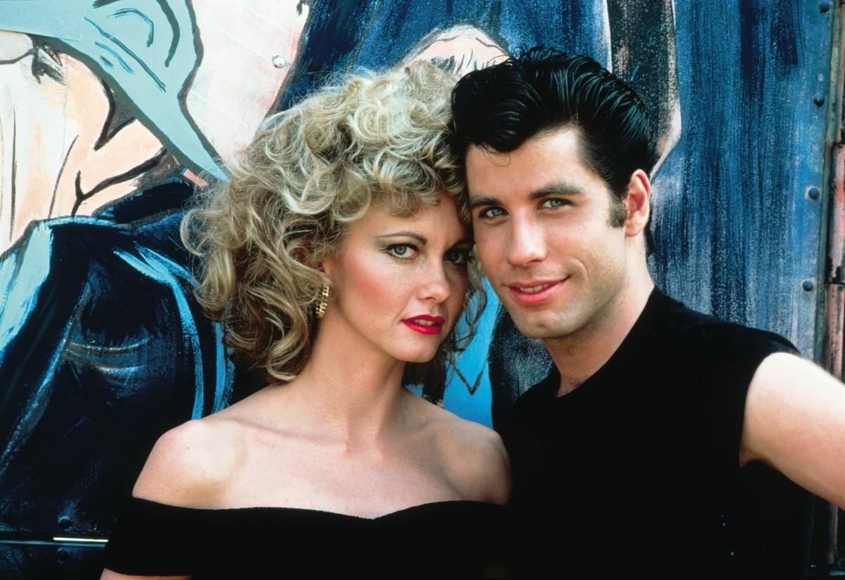 Olivia Newton-John e John Travolta em 'Grease' (Foto: Divulgação)