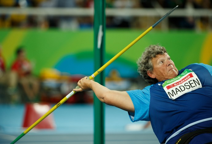 atletismo angela madsen (Foto: Al Tielemans / OIS / IOC /  AFP)