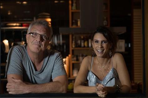 Pedro Bial gravou com Sarah Oliveira para o 'Calada noite', do GNT (Foto: Flávia Montenegro)