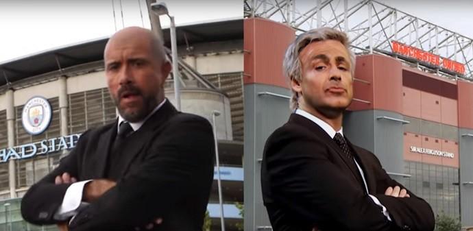 """BLOG: """"The Special Two"""": vídeo faz graça com duelo Guardiola x Mourinho e Ibrahimovic"""
