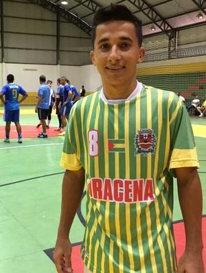 Cleitinho, ala do Dracena, Liga Paulista (Foto: Murilo Rincon / GloboEsporte.com)