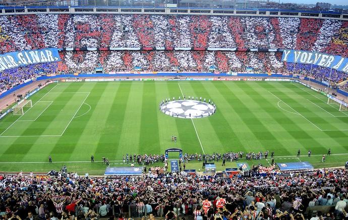 torcida Atlético de Madrid jogo Barcelona Liga dos Campeões (Foto: Cassio Barco)