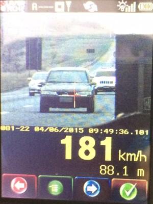 Polícia flagra carro a 181 km/h em rodovia federal durante o feriado  (Foto: Divulgação/Polícia Rodoviária Federal)