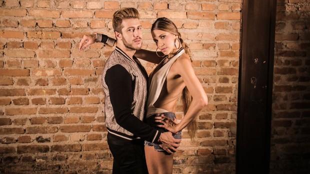 Amannda e o DJ Tommy Love (Foto: Divulgação)