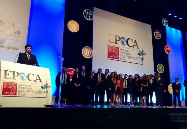 Elektro recebe o GPTW 2014 como melhor empresa para trabalhar na categoria Grandes (Foto: ÉPOCA)