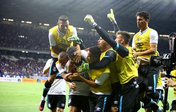 De 53 toques a 7 segundos: Grêmio domina Cruzeiro com gols opostos