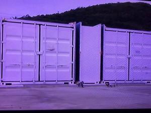 Supercomputador está em dois containers (Foto: Reprodução/Inter TV/Rogério de Paula)