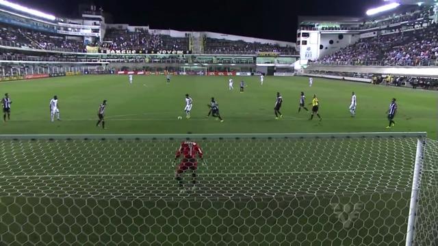 Santos marca 4 gols na Vila Belmiro (Foto: Reprodução/TV Tribuna)