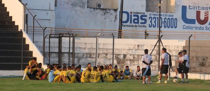 Treze, treino no Estádio Presidente Vargas (Foto: João Brandão Neto / GloboEsporte.com/pb)