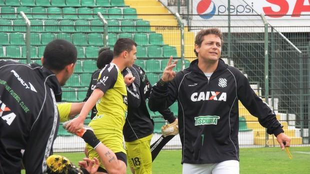 Marcos Seixas Marquinhos Figueirense preparador físico (Foto: Marcelo Silva)