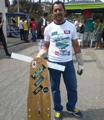 'Ayrton Senna do rolimã', Antônio de Amorim participa do evento (Foto: Gabriel Dantas/GloboEsporte.com)