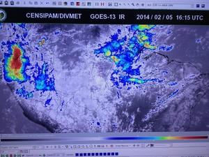 Sipam consegue ter previsão de chuvas com até 72 horas de antecedência (Foto: Ivanete Damasceno/G1)