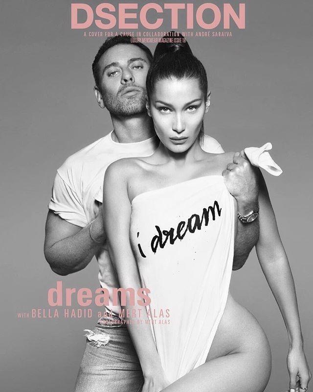 Bella Hadid e Mert Alas na capa da revista DSection (Foto: reprodução/instagram)