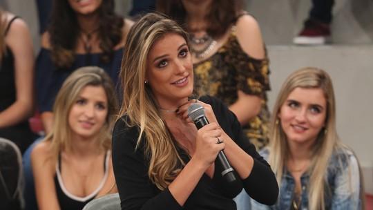 Rafa Brites chora ao escutar declaração de Felipe Andreoli: 'Ela será uma mãe fantástica'