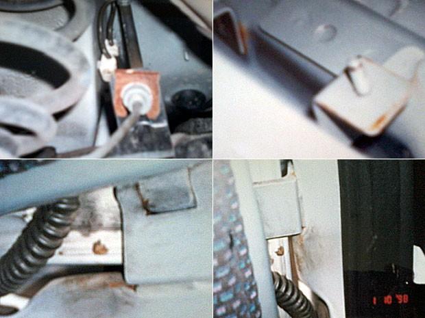 Detalhes de ferrugem encontrada no ano em que o carro foi comprado (Foto: Arquivo pessoal/Inge Tittel)
