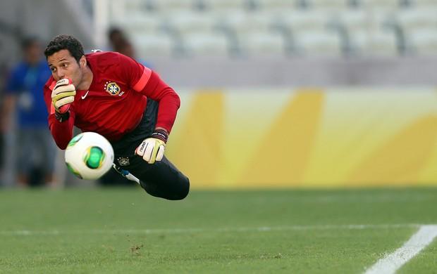 Julio Cesar treino Seleção Brasil  (Foto: EFE)