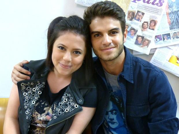 Jéssica Lobo e Daniel trabalharam juntos na temporada de 2012 (Foto: Malhação / TV Globo)