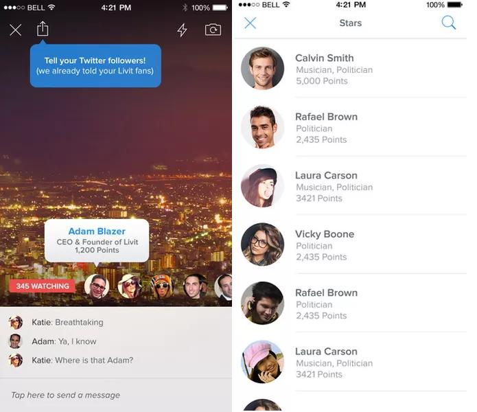 Transmita vídeos e converse com as pessoas que assistem usando o Livit (Foto: Divulgação/AppStore)