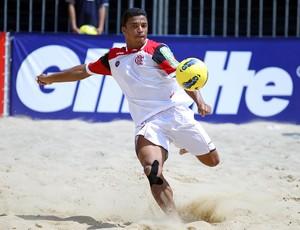 Benjamin Flamengo futebol de areia (Foto: William Lucas/Inovafoto)