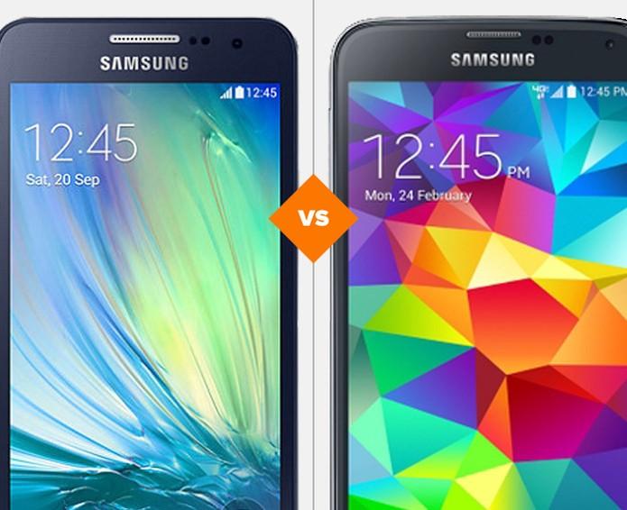 Comprativo Galaxy S5 mini x Galaxy A3 (Foto: Arte/TechTudo)