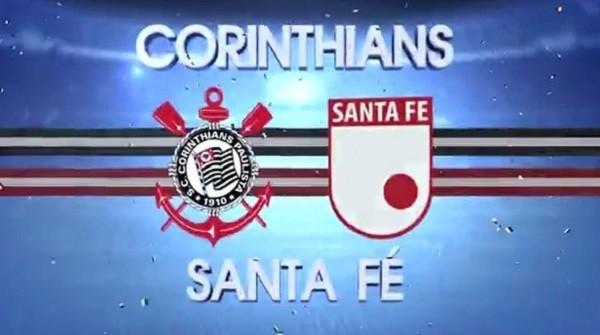 Santa Fé x Corinthians se enfrentam pela Libertadores (Foto: Reprodução / Internet)
