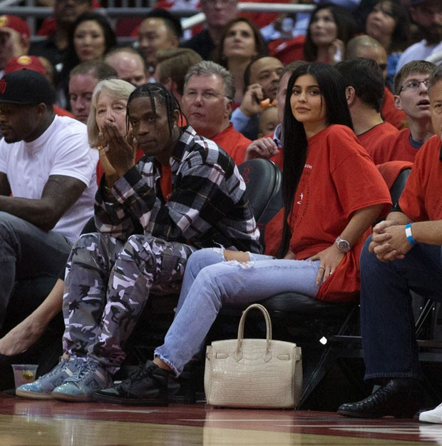 Kylie Jenner e o rapper Travis Scott (Foto: Getty Images)