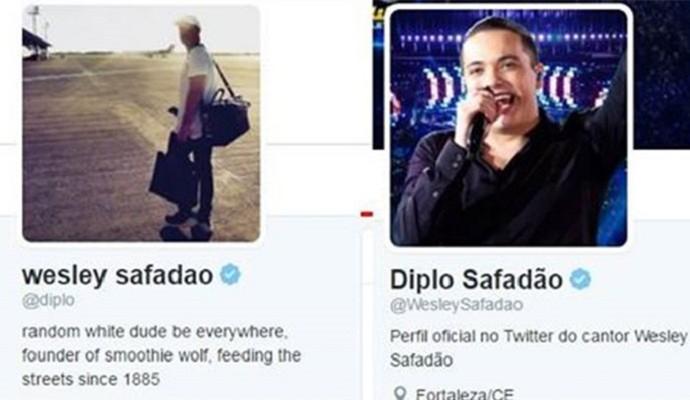 Wesley Safadão retribuiu homenagem de Diplo e trocou nome em rede social (Foto: Reprodução)