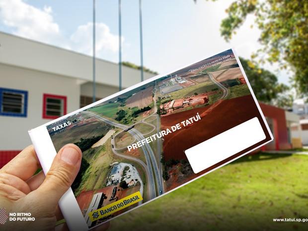Carnê IPTU Tatuí (Foto: Evandro Ananias / Secom Tatuí)