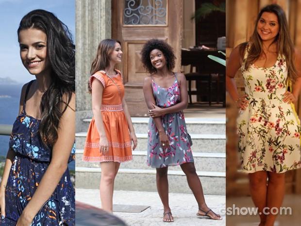 Várias cores, modelos e estampas dos lindos vestidinhos (Foto: Em Família/TVGlobo)