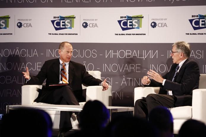 Gary Shapiro e durante CES 2015 (Foto: Divulgação/CES)