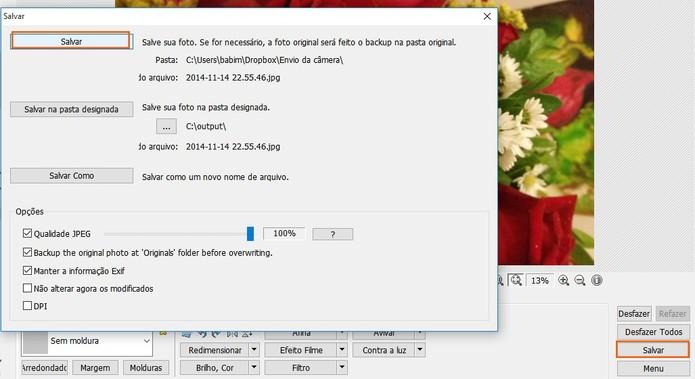 Salve o resultado no computador (Foto: Reprodução/Barbara Mannara)