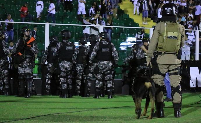 Figueirense x Grêmio Polícia (Foto: Luiz Henrique/Figueirense FC)
