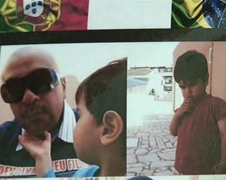 Pai de Angra dos Reis luta pela guarda do filho que está em Portugal (Foto: Reprodução RJTV 1ª Edição)