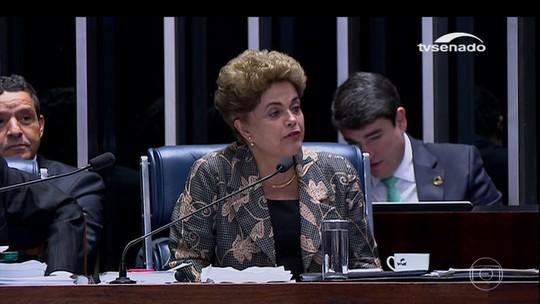 Dilma Rousseff responde perguntas no Senado e nega ter cometido crime