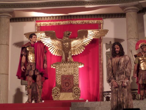 José Barbosa é Jesus pela terceira vez no espetáculo (Foto: Jaqueline Almeira/ G1)