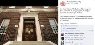 Comunicado da Monarquia Britânica no Facebook (Foto: Reprodução)