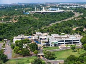 Sede do governo do estado de Mato Grosso, o Palácio Paiaguás, em Cuiabá. (Foto: Daniel Meneguini / Secom-MT)