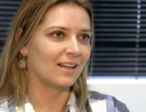 psicóloga do Santos, Juliane Fechio (Foto: Reprodução / TV Tribuna)