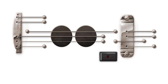 Os sons captados pelo Doodle em homenagem à guitarra Les Paul podiam ser compartilhados no Google+ (Foto: Reprodução/Google)